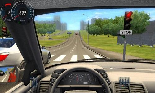 تحميل لعبة city car driving من ميديا فاير